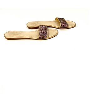 Kate Spade New York Sparkling Pink Glitter Sandals